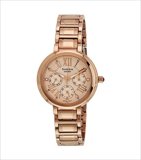 Casio Sheen Analog Gold Dial Women's Watch_Hauterfly