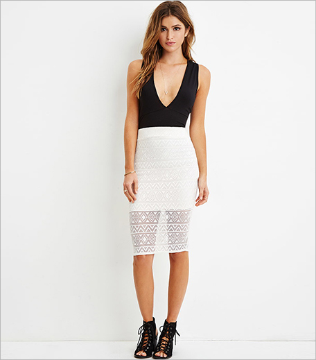 Forever 21 Crochet Overlay Pencil Skirt_Hauterfly