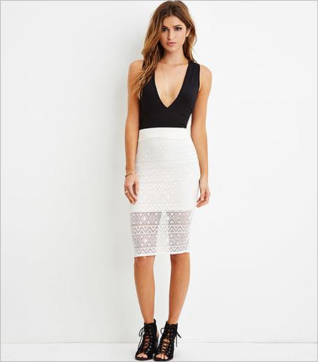 Forever 21 Crochet Overlay Pencil Skirt_Hauterfly