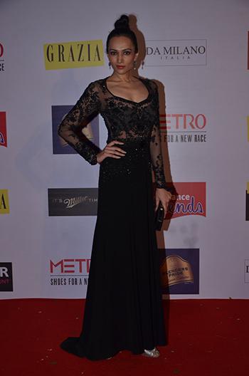 Dipannita Sharma looks resplendent in a Shahab Durazi gown