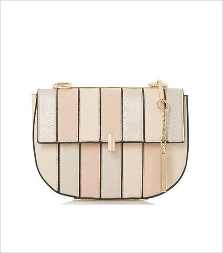 Dune London Ellen Cream Patchwork Mini Saddle Bag_Hauterfly