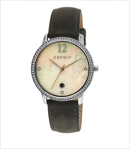 Esprit Olive White Analog Watch_hauterfly