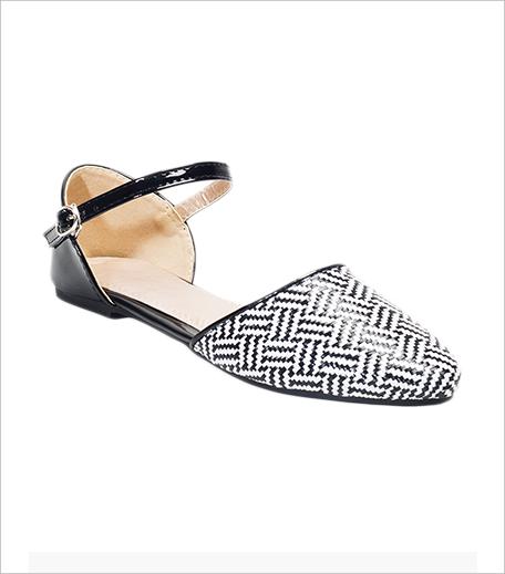 Faballey Pointed Toe Flats Monochrome_Hauterfly