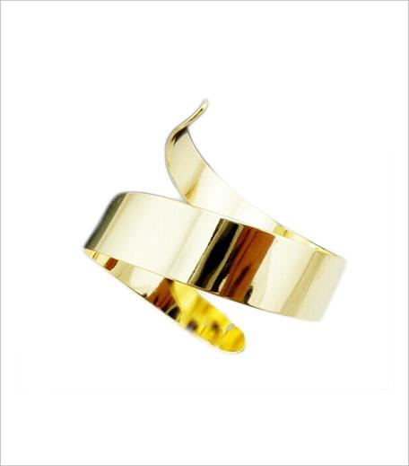 Femnmas Gold Plated Spiral Bracelet_Hauterfly