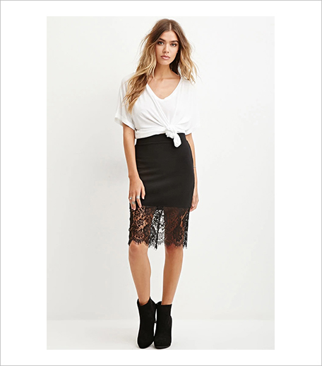 Forever 21 Eyelash Lace-Hem Pencil Skirt_Hauterfly