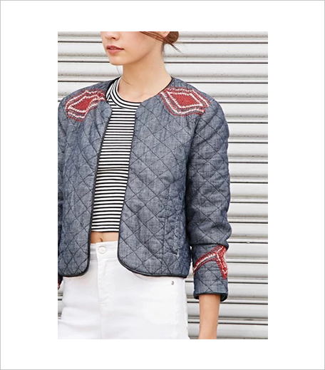 Forever 21 Geo-Embroidery Quilted Denim Jacket 1_Hauterfly