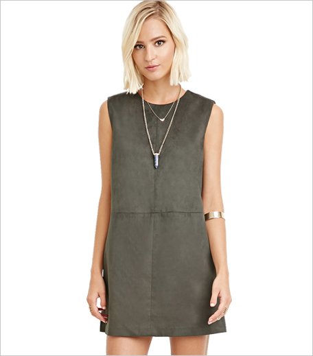 Forever21 Faux Suede Shift Dress_Hauterfly