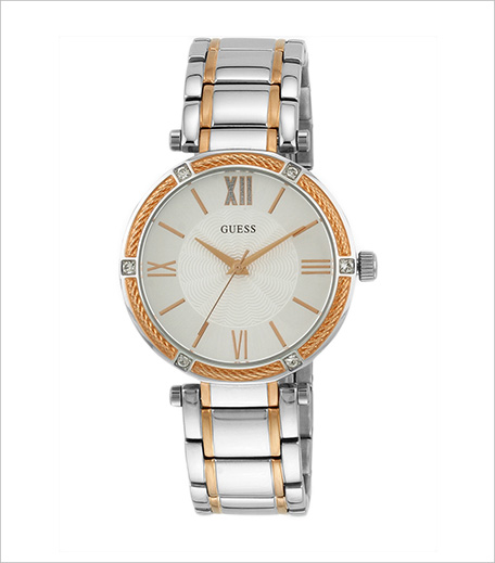 Guess Guess Ladies Dress Two Tone Silver Analog Watch_Hauterfly