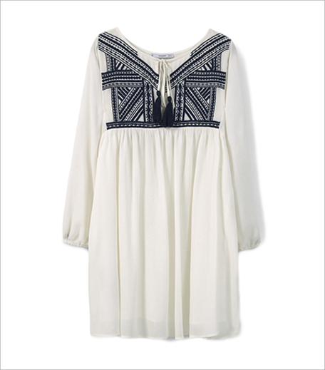Mango Embroidered panel dress_Hauterfly