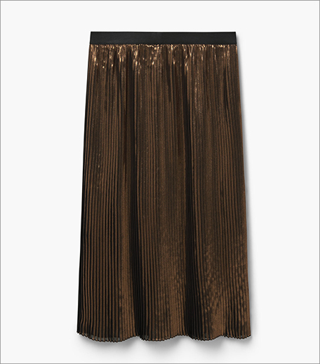 Mango Metallic Midi Skirt_Hauterfly