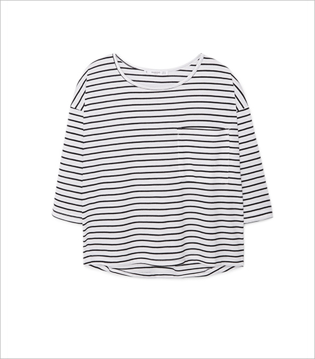 Mango Striped bicolor t-shirt_Hauterfly
