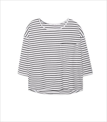 Mango Striped bicolor t-shirt_Hauterfly