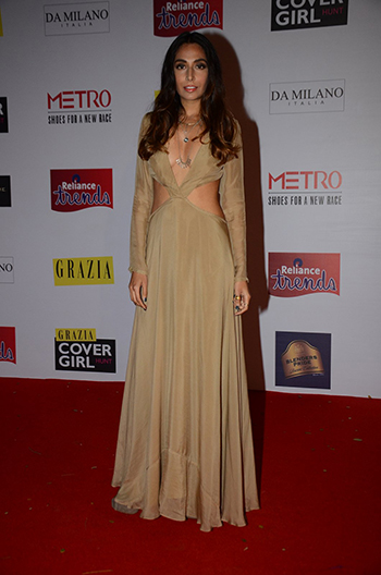 Monica Dogra in a Deme by Gabriella cut-out dress