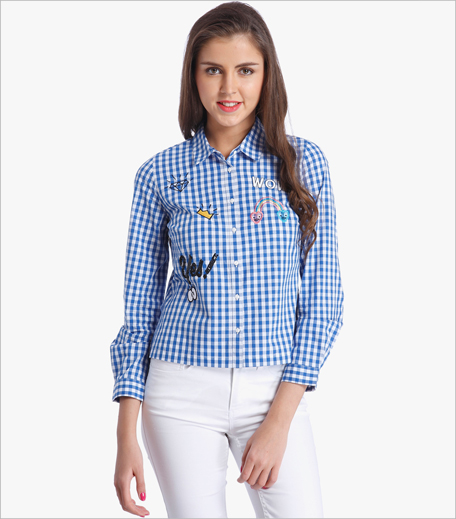 Only Blue Checked Shirt_Hauterfly