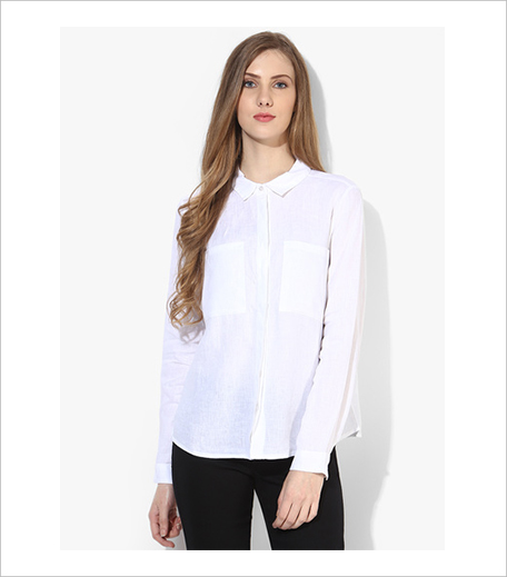 Only White Solid Shirt_Hauterfly