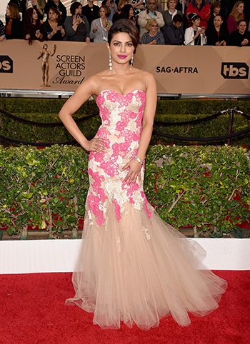 LOS ANGELES, CA - JANUARY 30: Actress Priyanka Chopra attends The 22nd Annual Screen Actors Guild Awards at The Shrine Auditorium on January 30, 2016 in Los Angeles, California. 25650_015 (Photo by Jason Merritt/Getty Images for Turner) *** Local Caption *** Priyanka Chopra
