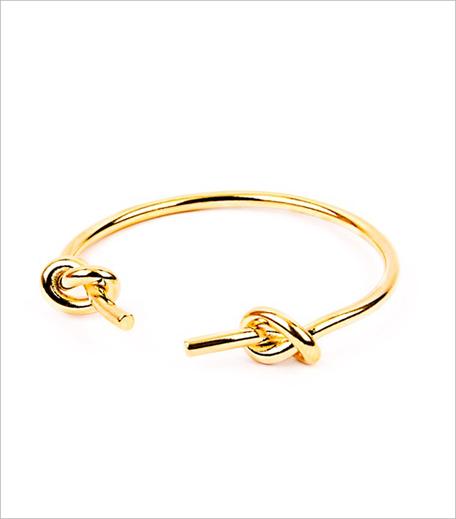 Shop Lune Dew Gold Knot Cuff Bracelet_Hauterfly