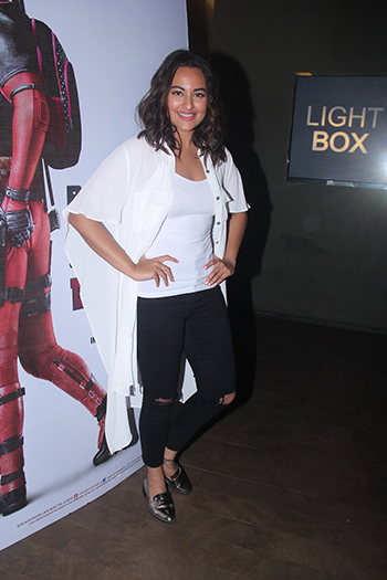 Sonakshi Sinha at the Deadpool screening