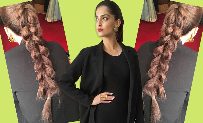 Sonam Kapoor Faux Dutch Braid_Hauterfly