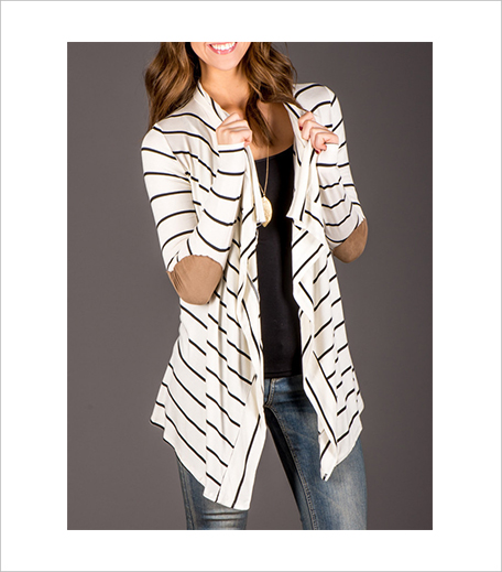 The Style Syndrome White Drape Front Striped Patch Coat_Hauterfly
