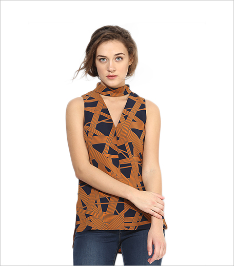 Topshop Geo Roll V Top from Jabong_Hauterfly