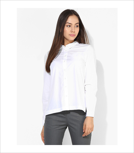 Vero Moda White Solid Shirt_Hauterfly