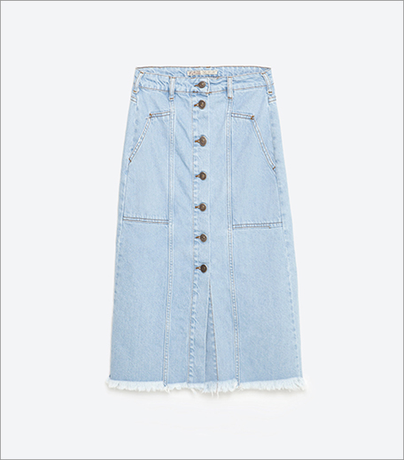 Zara Denim Skirt_Hauterfly