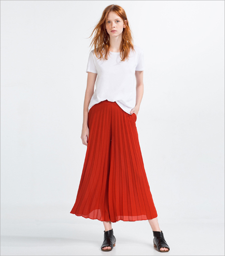 Zara Front Pleated Culottes_Hauterfly
