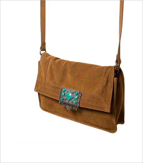 Zara Leather Cros Body Bag With Stone Detail Closure_Hauterfly