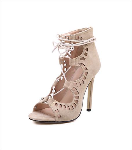 Zooomberg Beige High Heel Hollow Sandals_Hauterfly