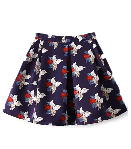 Zooomberg Floral Flare Blue Skirt_Hauterfly