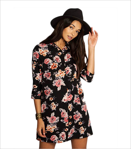 Boohoo Floral Shirt Dress_Hauterfly