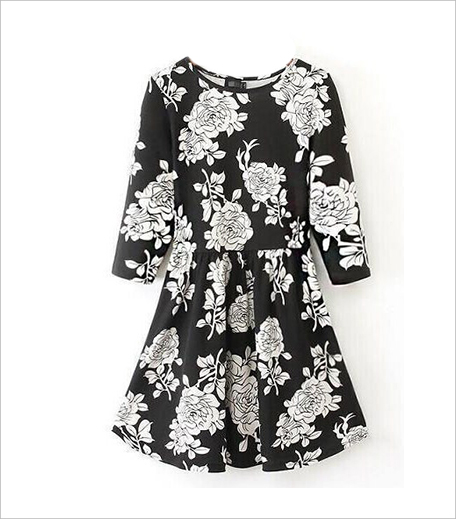 Closet Diaries White Black Print Dress_Hauterfly