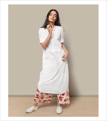 Nicobar Basic Long Kurta_White_Hauterfly