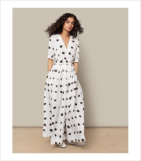 Nicobar Pleated Wrap Dress_Polka_Hauterfly