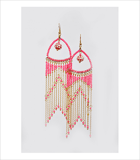 St Erasmus Pink Waterfall Earrings at Ogaan_Hauterfly