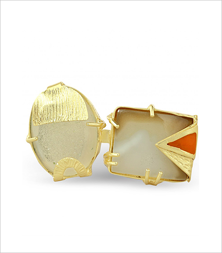 The Bohemian_Opaque White Two Stoned Ring_Hauterfly