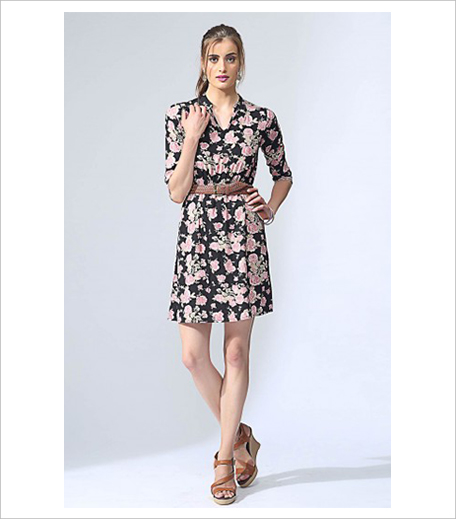 The Label Life Floral Print Cinched Dress_Hauterfly