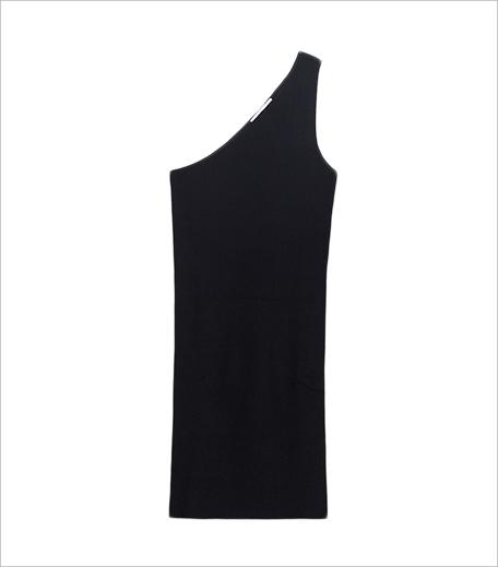 Zara Striped Assymetric Neckline Dress_Hauterfly