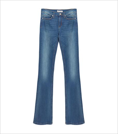 Zara_Mid-rise Flared Jeans_Hauterfly
