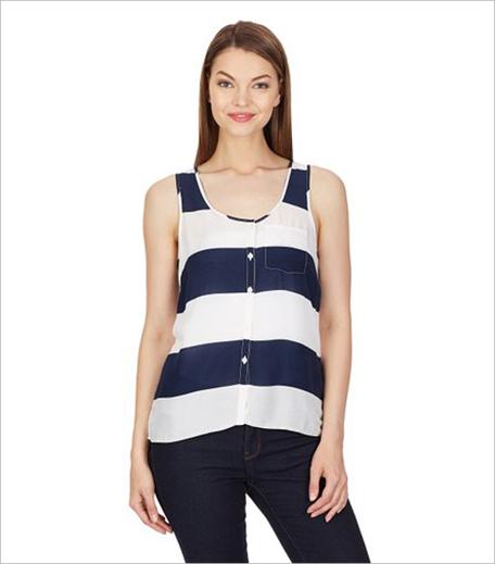 Aéropostale Women's Body Blouse Shirt In Stipes_Hauterfly