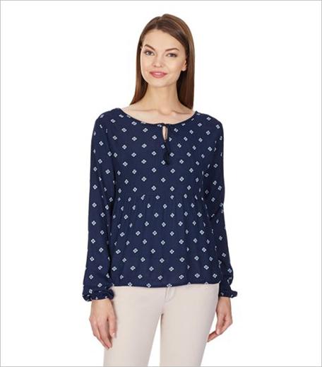Aéropostale Women's Body Blouse Shirt in Blue_Hauterfly