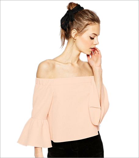 Asos Off The Shoulder Top With Ruffle Sleeve_Hauterfly