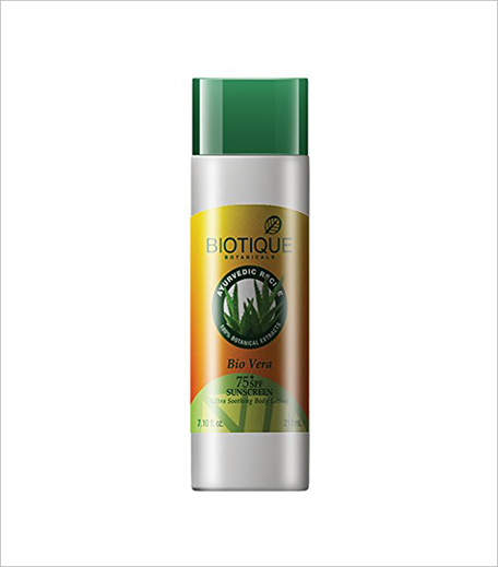 Biotique Bio Aloe Vera Face & Body Sun Lotion SPF 75_Hauterfly