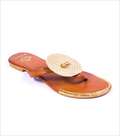 Gush Accessories Tan Chakri Sandals_Hauterfly