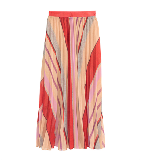 H&M Pleated Chiffon Skirt_Hauterfly