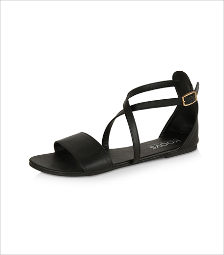 Koovs Cross Strap Flat Sandals_Hauterfly
