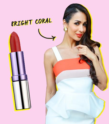Malaika Arora Summer Makeup Coral Lipstick_Hauterfly