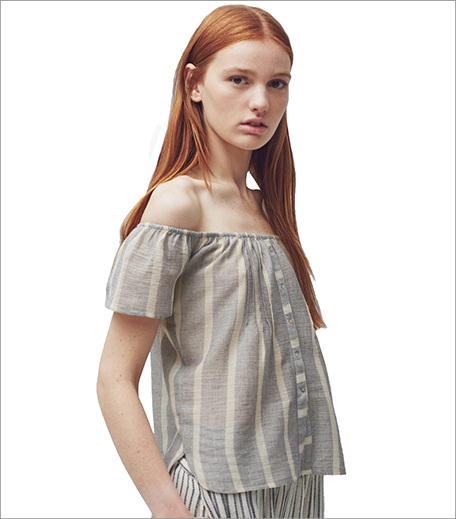 Mango Striped cotton-blend top_Hauterfly
