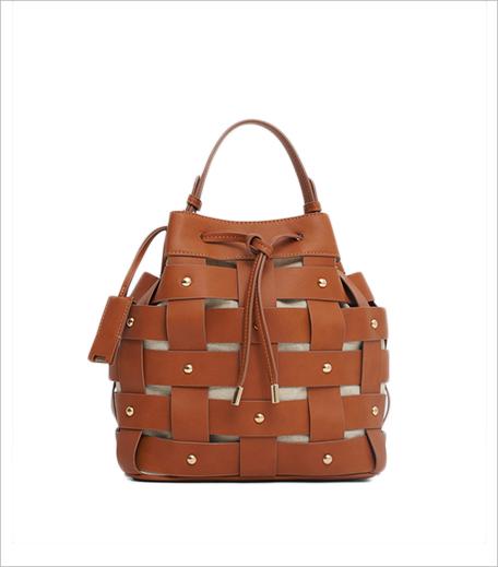 Mango Woven lattice bucket bag_Hauterfly